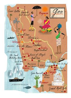 Martin Haake - Map of Goa #india