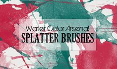 For this freebie Robyn from Clik Chic Designs has very kindly provided her Watercolor and Splatters Brush Sets. This brush set is one of our absolute favourites, as as well as the high-resolution brushes, you also get 18 high-res, transparent background .PNG files.