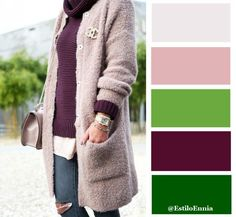 green and purple color palette Colour Combinations Fashion, Color Combinations For Clothes, Color Blocking Outfits, Fashion Colours, Colorful Fashion, Color Combos, Color Schemes, Color Pairing, Color Balance
