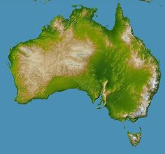 A composed satellite map of Australia mapmania Pinterest Australia