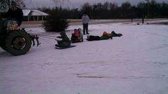Al wintet ice and snow ski Redneck style :)