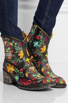 Mexicana|Klak embroidered boots
