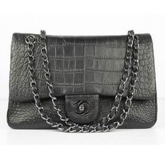 Chanel Fall Winter 2012 Croc Veins Leather Flap Bag