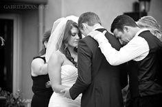 Wedding prayer photo