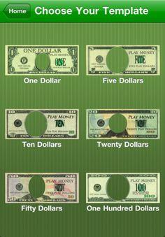 Editable Play Money Template