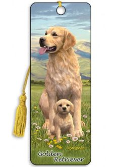 Artgame 3D Golden Retriever Bookmark