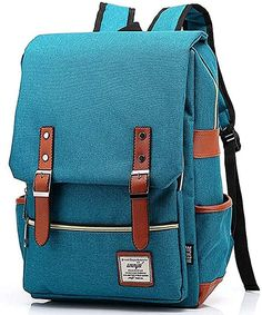Furivy Unisex Oxford Retro Style Laptop Backpack College School Bag Student Daypack Rucksack #afflink Satchel Backpack, Canvas Backpack, Leather Backpack, Travel Backpack, Waterproof Laptop Backpack, Boutique, School Bags, Making Ideas, College Backpacks