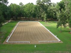 This dressage arena looks like the one at Uncle Henry's where Thea rides Blackie from May to October.