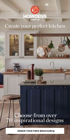 Our kitchen brochure will help you to plan your dream kitchen, with over 70 inspirational kitchen designs to choose from. For more inspiration, visit Howdens. Kitchen Design Trends 2018, Latest Kitchen Trends, Kitchen Designs, Free Brochure, 1970s Kitchen, Home Improvement Projects, Joinery, Service Design, Free Design