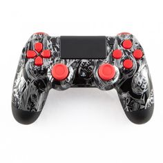 Silver Zombie on Black PS4 Controller