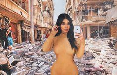Kim Kardashian selfie art modern art contemporary art Syria urban art iPhone popart