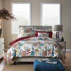 Laurel Garden Percale Duvet Cover & Sham | The Company Store