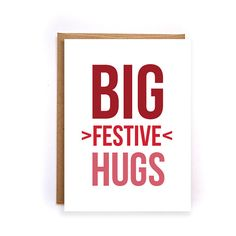 Business christmas cards ho ho ho card red christmas greeting cute christmas cards big festive hugs boxed by nirvanadesignsgifts reheart Images