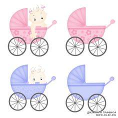 Детская коляска рисунок для открытки