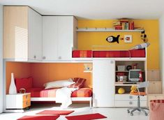 Bed and storage.