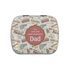 Train Station Dad Jelly Belly Candy Tins
