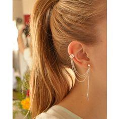 Cheap ear jacket, Buy Quality brinco brinco directly from China earrings earring Suppliers: Long Ear Jacket Girl Stylish Punk Rock Gold-color Leaf Chain Tassel Dangle Ear Cuff Clip Earing Wrap Earrings  brinco Women