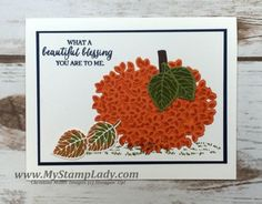 I am just squeaking in with a Monday Motivation. Someone posted a fall card with a pumpkin on a Facebook Group I am part of made with the Thoughtful Branches Bundle, and I couldn't wait to give it a t