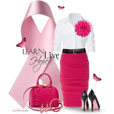 """""""Pink For October: Hope"""" by archimedes16 on Polyvore"""