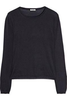 Miu Miu|Cashmere and silk-blend sweater|NET-A-PORTER.COM