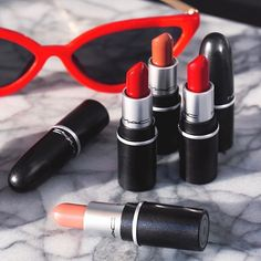 MAC Cosmetics offers Free MAC Lipstick w/ Six Empty Containers for Free AR, found by warunamail on Rose Lipstick, Lipstick Dupes, Purple Lipstick, Mac Store, Perfect Lipstick, Lip Shapes, Cheap Makeup, Lip Fillers, Your Lips