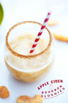 Refreshing frozen apple cider, spiked with bourbon---my new favorite way to beat the heat! | spachethespatula.com #recipe