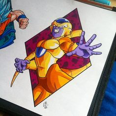 Golden Frieza Tattoo Design by Hamdoggz on DeviantArt