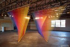 Amazing installations by Gabriel Dawe.