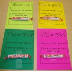 The 100th day of school is coming! Use this FREE download to give each of your students a little treat to commemorate the day! They'll love it, even in the upper grades! {My 6th graders did!}