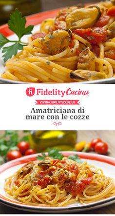 Amatriciana di mare con le cozze Best Italian Pasta Recipes, Healthy Pasta Recipes, Healthy Pastas, Spaghetti Recipes, Pasta All Amatriciana, Creamy Pasta, Vegan Pasta, My Favorite Food, Food Porn