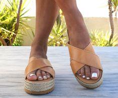 APHRODITE sandals/ Greek leather sandals/ espadrille platform sandals/ ancient grecian sandals/ leather slide sandals/ natural beige sandals by Leatheropolis on Etsy https://www.etsy.com/listing/516608927/aphrodite-sandals-greek-leather-sandals