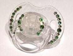 Baby Bling Peridot and Diamond Swarovski Crystal by LoloLally, $16.00