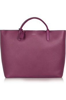 Smythson Panama textured-leather tote | NET-A-PORTER