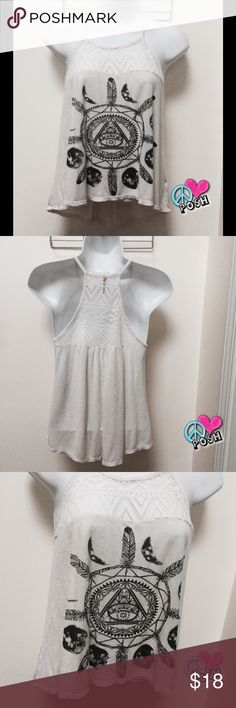 Cute Boutique Dream Catcher Tank Top Boutique Dream Catcher Tank Top  Size XS Thin Lightweight & Lace Embellished 💜Preloved in A-1 Condition 💜 ❌❌ NO TRADE ❌❌ ✌️️😃 Bundle & Save More ✌️️😃 Tops Tank Tops