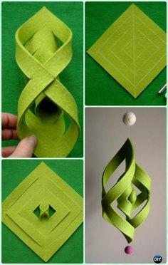 DIY Felt Ogee Ornament Instruction - DIY #Christmas #Ornament Craft Ideas For Kids