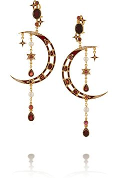 Percossi Papi|Diego gold-plated multi-stone earrings|NET-A-PORTER.COM