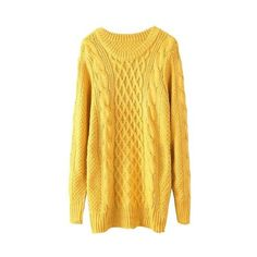 Long Yellow Sweater Cose da indossare ❤ liked on Polyvore featuring tops, sweaters, yellow sweater, long tops, long sweaters, yellow top and long length sweaters