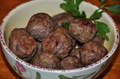 Savory Greek meatballs called keftethes can be served as an appetizer or as a main course. Instead of frying, these are baked to make them a little bit healthier.