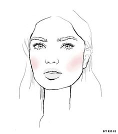 For round face girls, this technique will give your face a more sculpted glow