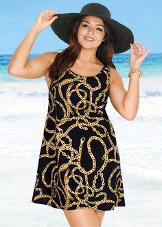 Strandkleid aus Badequalität schwarz bedruckt - bpc selection jetzt im Online Shop von bonprix.de ab ? 19,99 bestellen. Ohne integrierten Badeanzug. Mit ...