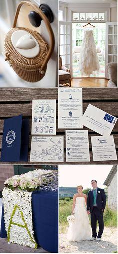 Love the invitation picture in the middle....cute idea!