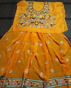 Punjabi Wedding Suit, Punjabi Suits, Wedding Suits, Embroidery Suits Design, Embroidery Fashion, Ladies Suit Design, Indian Bridal Wear, Kids Frocks, Suits For Women