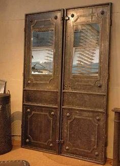 Fabulous pair of metal doors c.1920