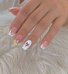 Elegant Nails, Stylish Nails, Nail Art Designs Videos, Nail Designs, Gorgeous Nails, Pretty Nails, Milky Nails, Girls Nails, Luxury Nails