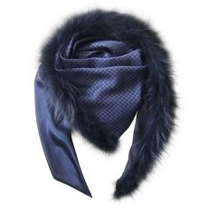 Precious Double Face-XL-SCARF made of vintage silk tie with Real Fur accents of blue frost fox. Each unique piece is absolutely generous, casual, and classy - your personal star of the winter season. Scarf, Silk Ties, Classy, Winter Season, Wilderness, Frost, Casual, Fur, Clothes