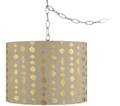 "Gold Drops 14"" Wide Brushed Steel Swag Chandelier 