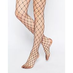 ASOS Oversized Fishnet Tights (26 PEN) ❤ liked on Polyvore featuring intimates, hosiery, tights, accessories, stockings, fishnet, black, sheer tights, asos and sheer stockings