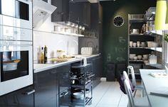 Petite cuisine : Comment gagner de la place dans une petite cuisine  - Amenagement cuisine: l'amenagement d'une cuisine un art qui s'apprend
