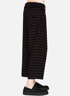 Damir Doma PETOR Cropped Trousers https://cruvoir.com/damir-doma/7572-petor-cropped-trousers-blackstripe