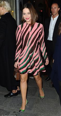 She's earned her stripes! Emilia Clarke put on her second wonderful fashion display of the...